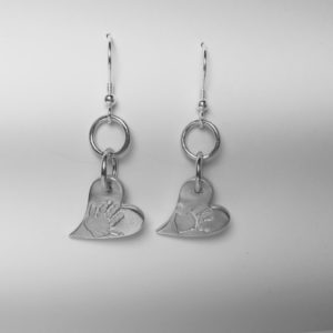 Handprint Earrings