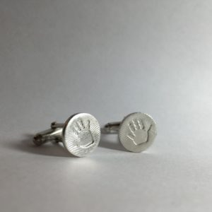 Fingerprint and Handprint Cufflinks Edinburgh