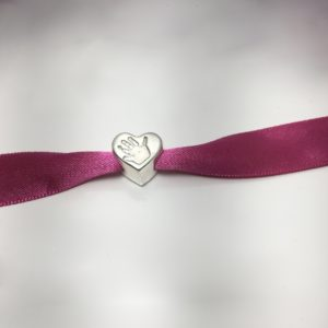 Heart Handprint Bead