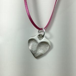 Double Fingerprint Heart Lock Charm